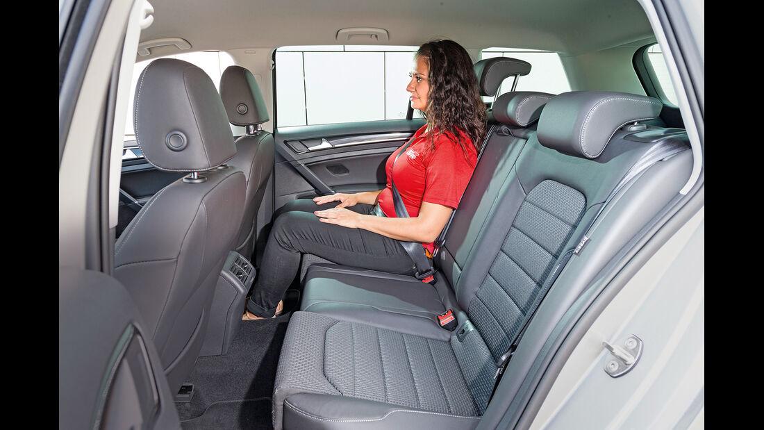 VW Golf Variant 2.0 TDI BMT, Fondsitz, Beinfreiheit