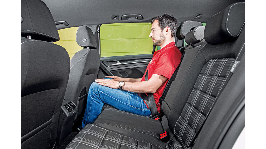 VW Golf Variant GTD, Fondsitze