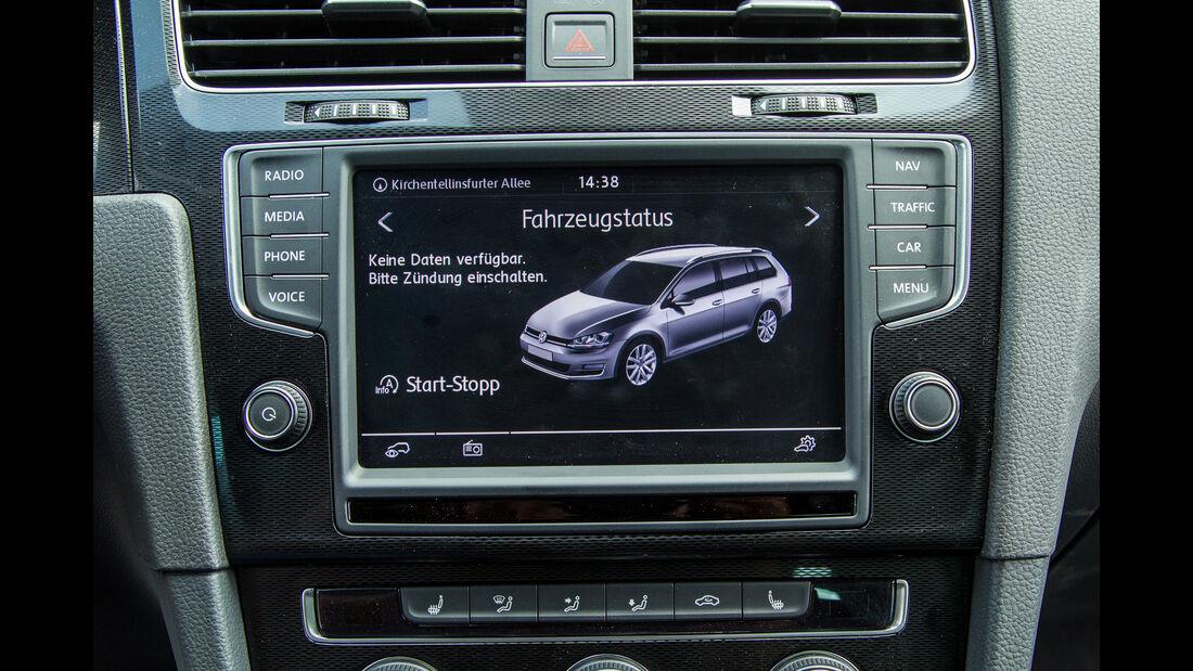 VW Golf Variant GTD, Infotainment, Monitor