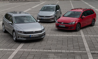 VW Golf Variant, Sportsvan, Passat, Frontansicht