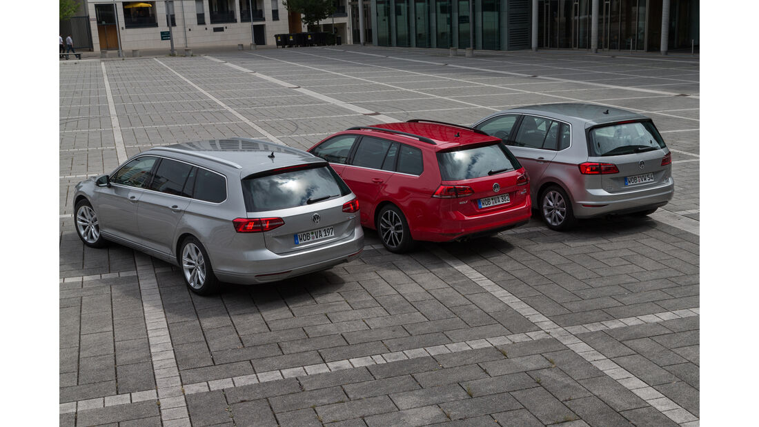 VW Golf Variant, Sportsvan, Passat, Heckansicht
