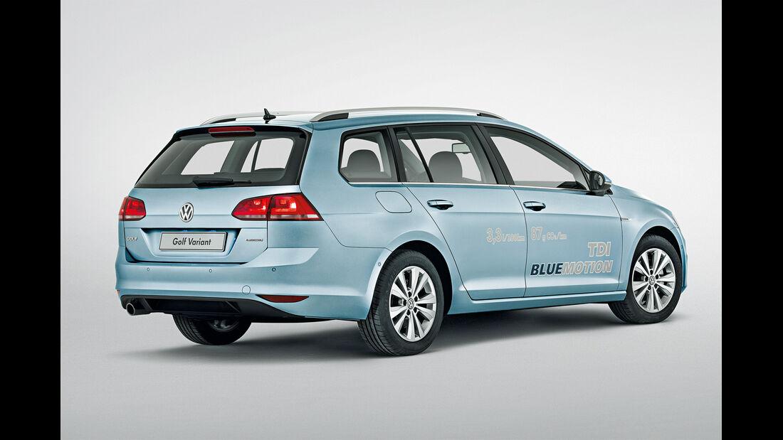VW Golf Variant TDI Blue Motion, Seitenansicht