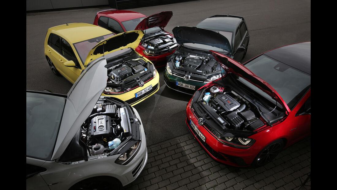 VW Golf, Versionsvergleich, Performance