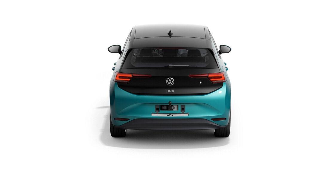 VW ID.3 Dachlast Anhängelast null Kilo Fahrradträger