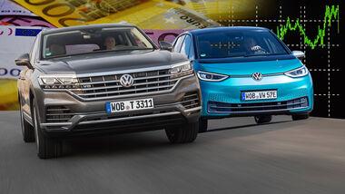 VW ID.3 Elektroauto Touareg V8 Diesel Preiserhöhung Collage