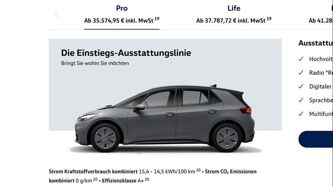 VW ID. 3 Konfigurator