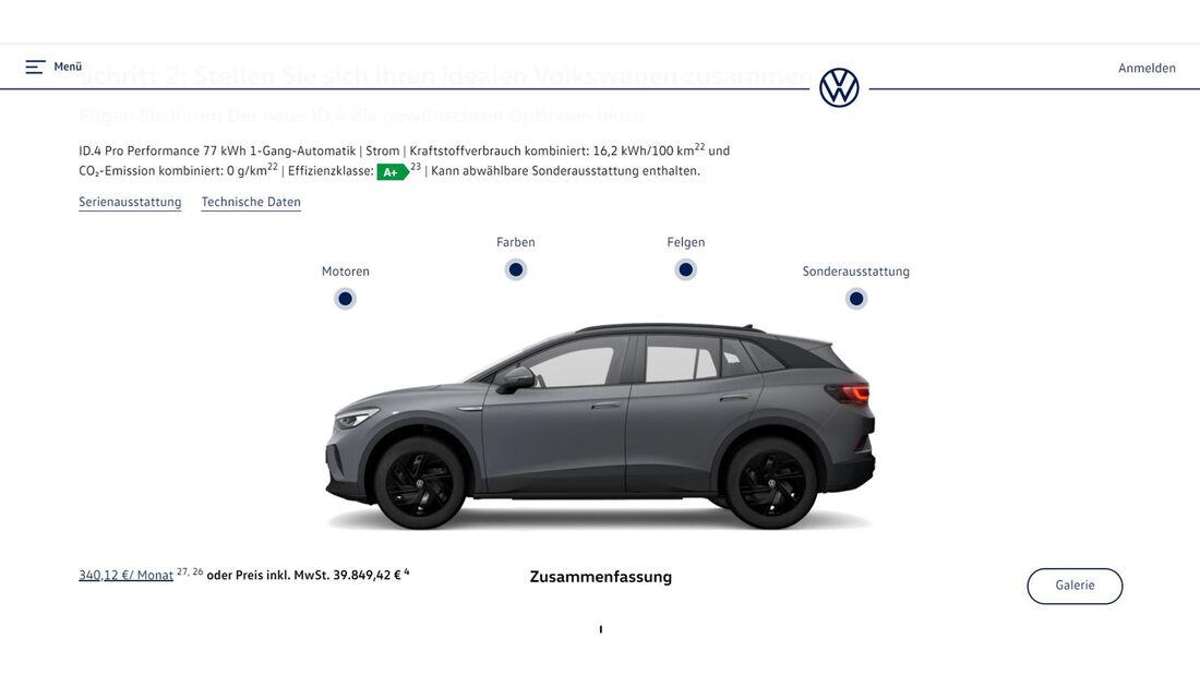 VW ID.4 Konfigurator