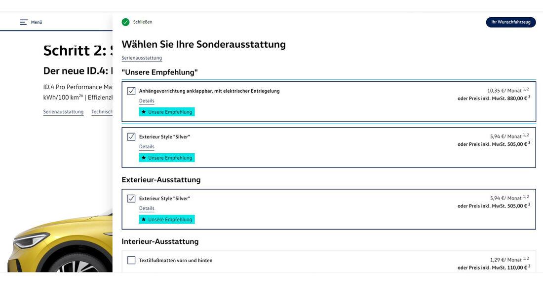 VW ID.4 Konfigurator 2021