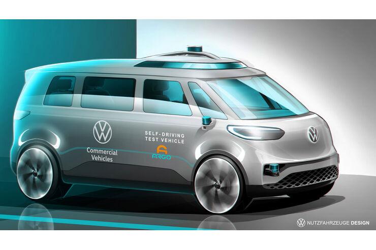 VW ID. Buzz: E-Bus kommt als autonomes Taxi - auto motor und sport
