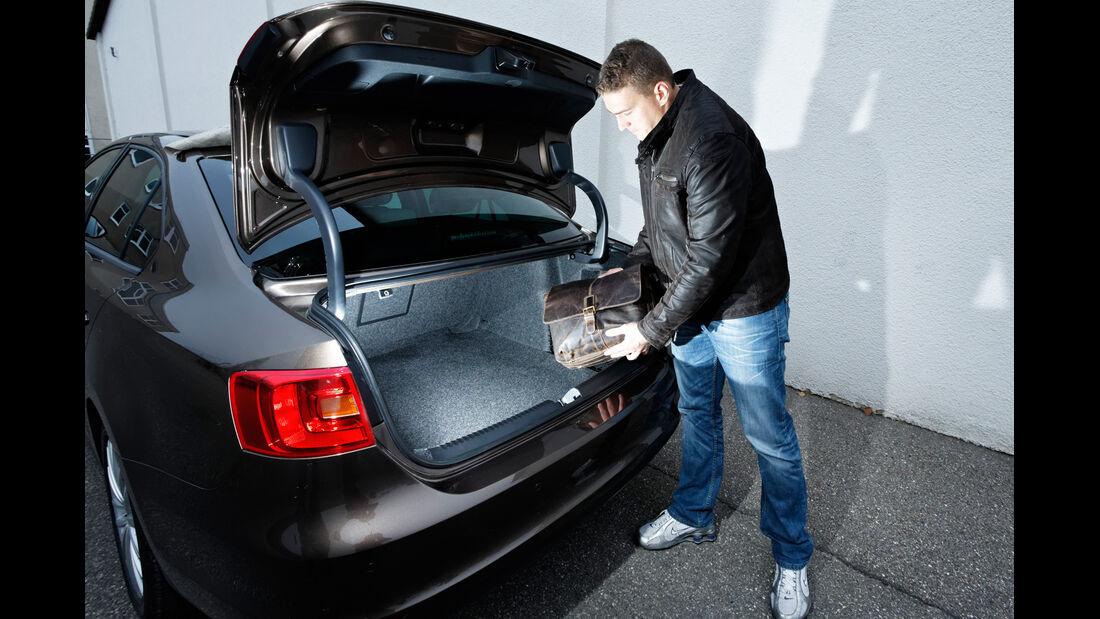 VW Jetta 1.6 TDI, Heckklappe, Kofferraum