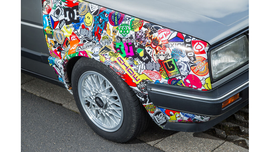 VW Jetta 1.8, Front, Aufkleber