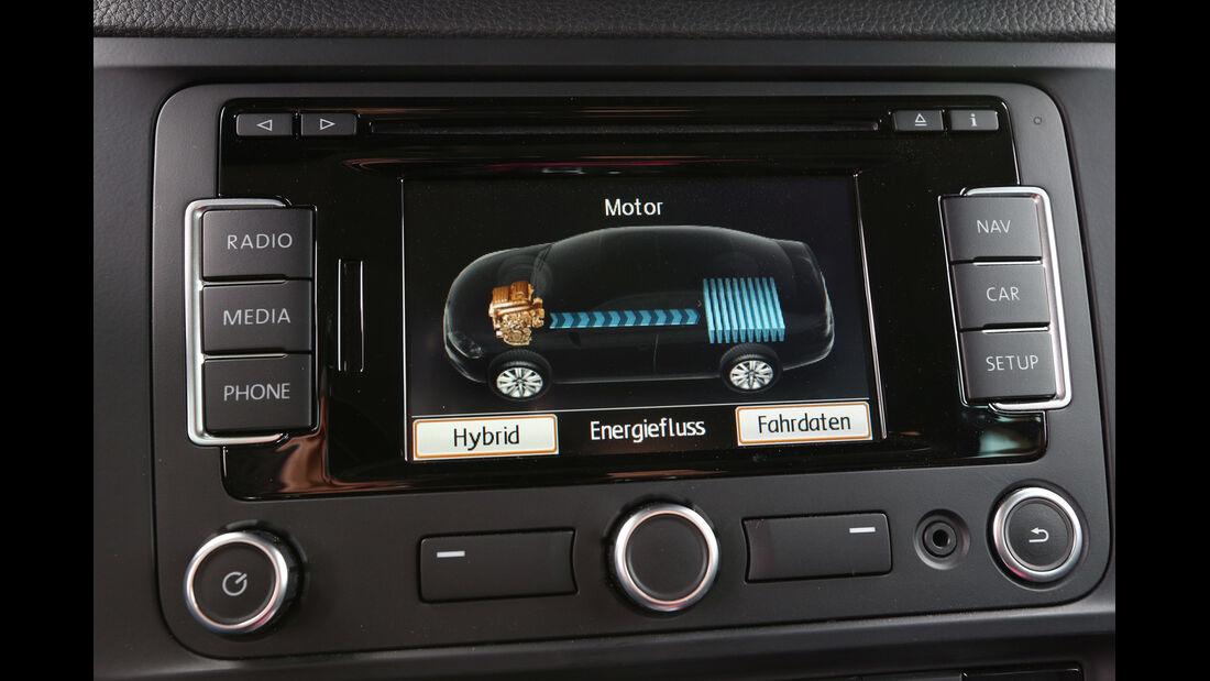 VW Jetta Hybrid, Monitor, Bordcomputer