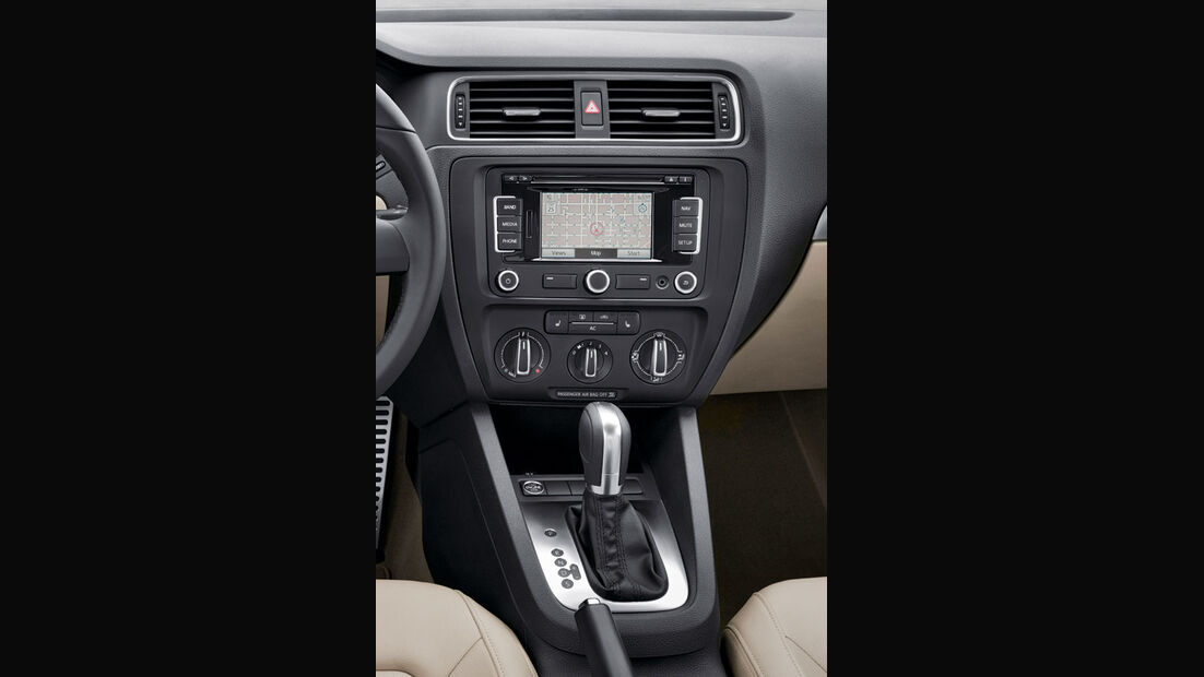 VW Jetta, Mittelkonsole, Navigationssystem