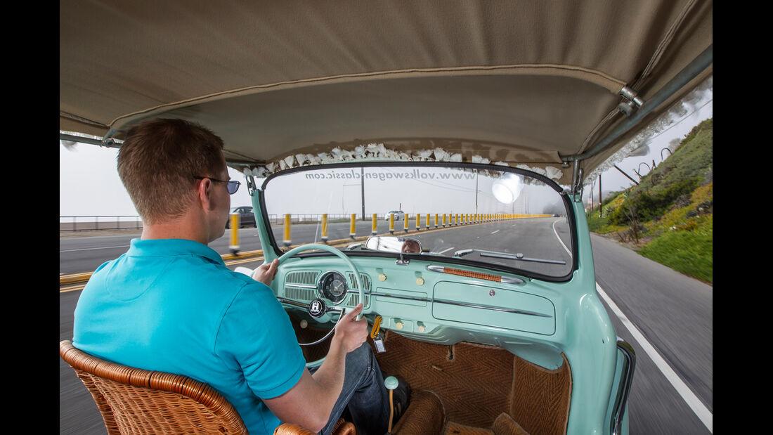 VW Jolly, Cockpit, Fahrer
