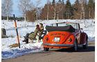 VW Käfer Cabrio, Winterlandschaft