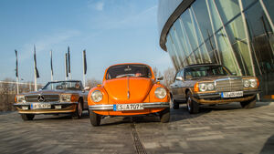 VW Käfer, Mercedes-Benz W123, Mercedes-Benz R107