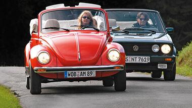 VW Käfer, VW Golf I, Frontansicht