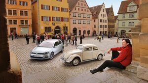 VW Käfer, VW Golf, Impression, Oldtimer