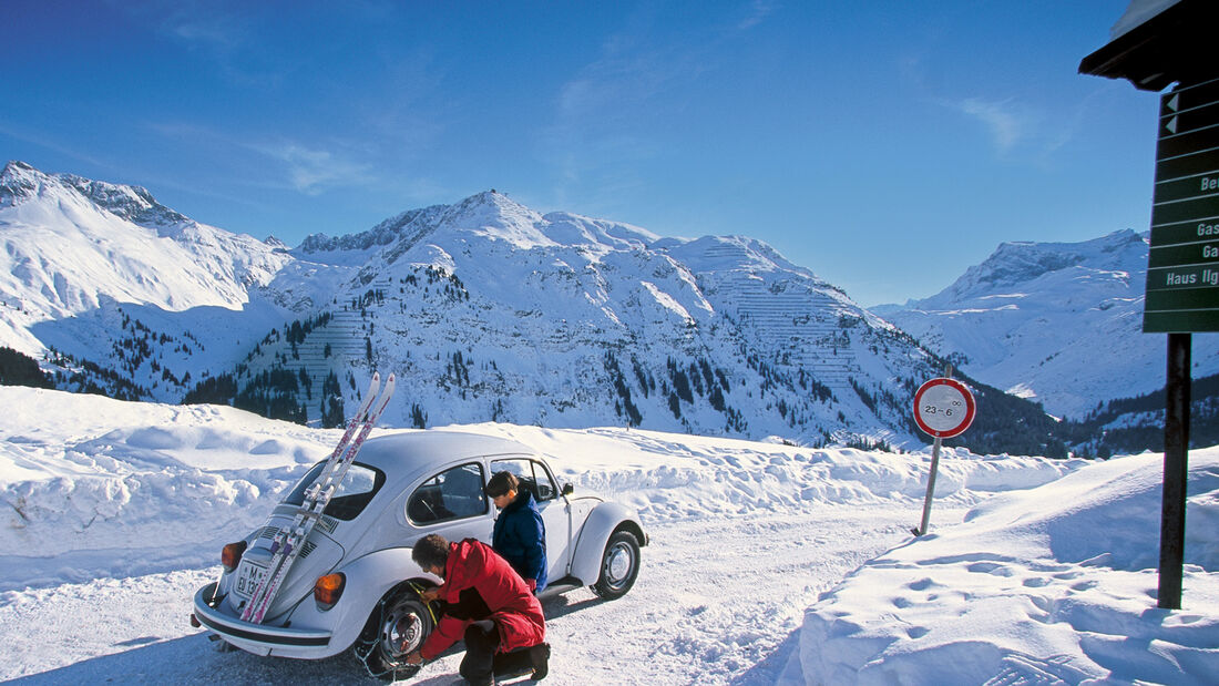 VW Käfer, Winterlandschaft