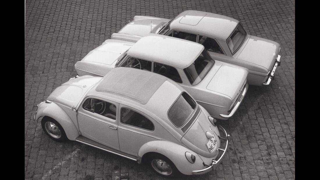 VW Käfer, verschiedene Fahrzeuge