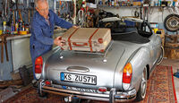 VW Karmann-Ghia Cabriolet, Heckansicht, Gepäckträger, Horst Reckert