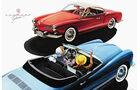 VW Karmann-Ghia Cabriolet, Werbung, Plakat