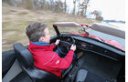 VW Karmann Ghia, Cockpit, Fahrer