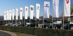 VW-Konzern Flaggen Konzernmarken