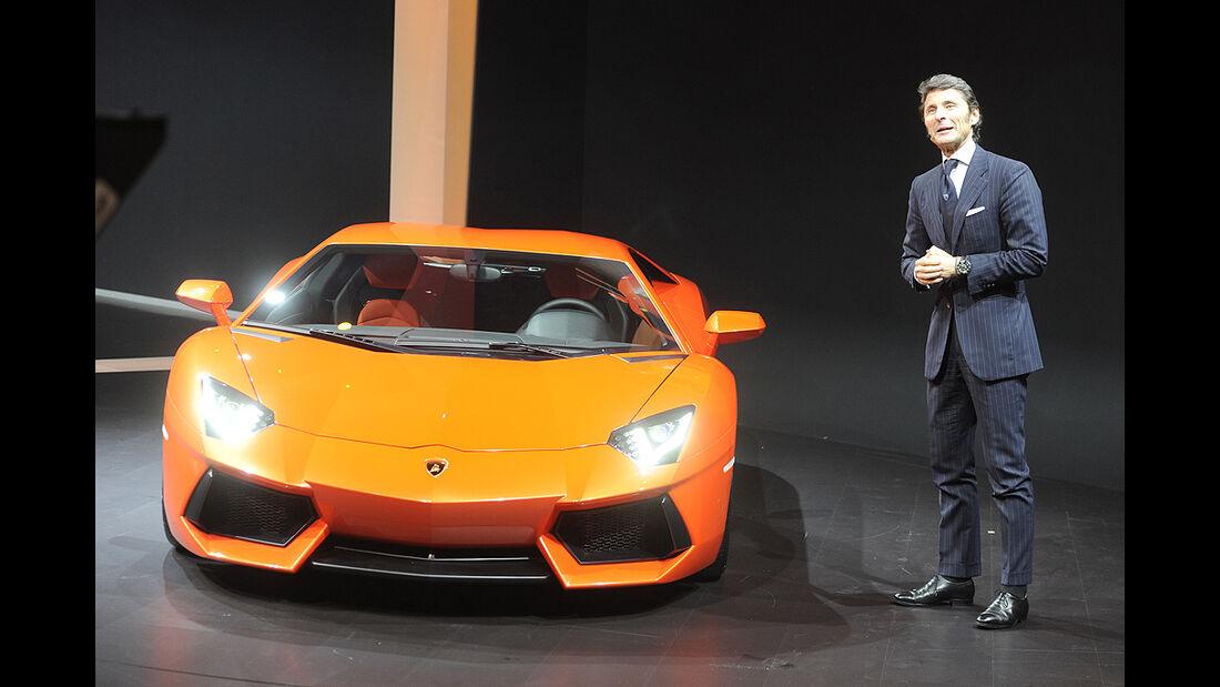VW-Konzernabend, Genfer Autosalon 2011, Lamborghini Aventador LP 700-4, Stephan Winkelmann