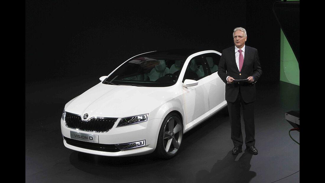 VW-Konzernabend, Genfer Autosalon 2011, Skoda-Designstudie