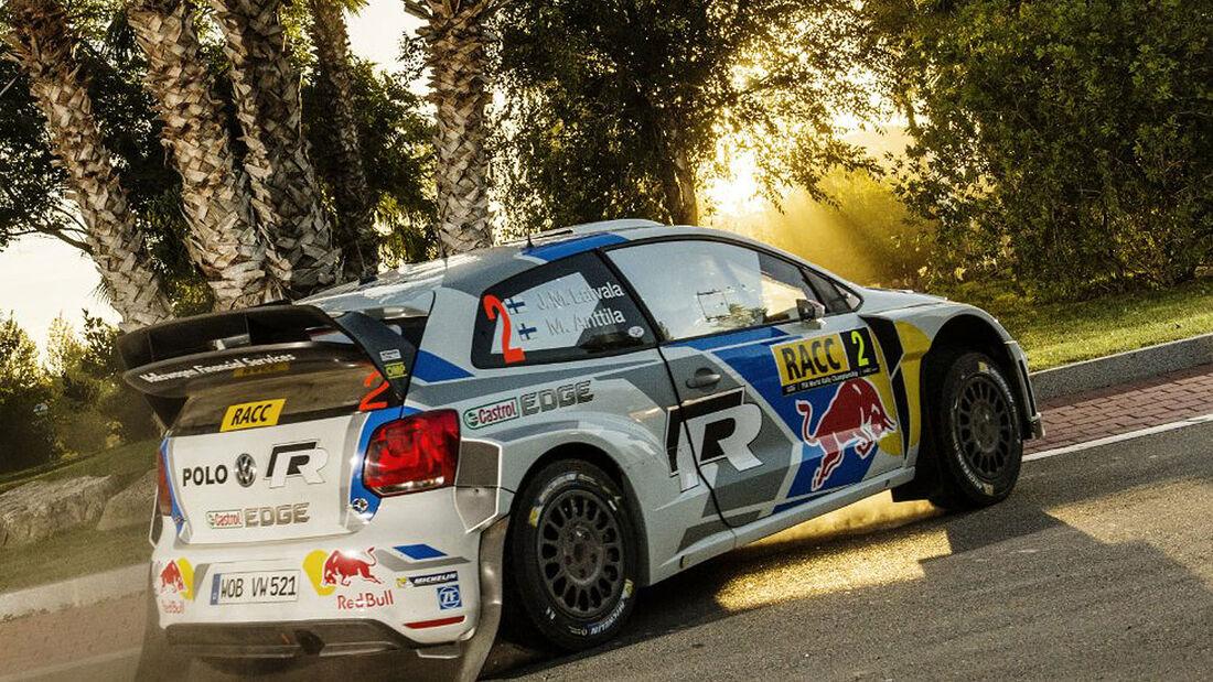 VW Latvala Rallye Spanien 2014