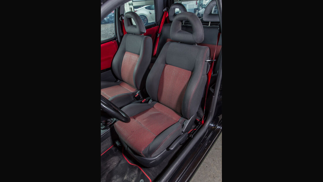 VW Lupo GTI, Fahrersitz