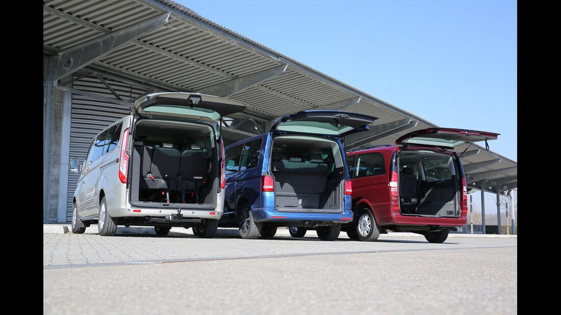 VW Multivan 2.0 TDI, Mercedes Viano 2.0 CDI, Ford Tourneo Custom, Heckklappe