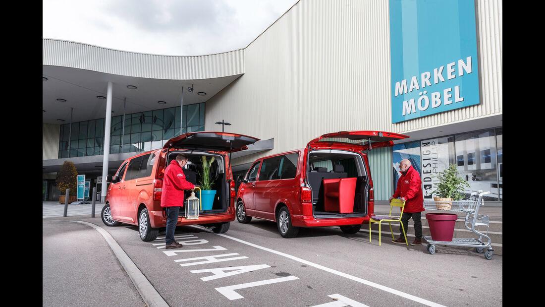 VW Multivan 2.0 TDI, Peugeot Traveller HDi 150 L2,
