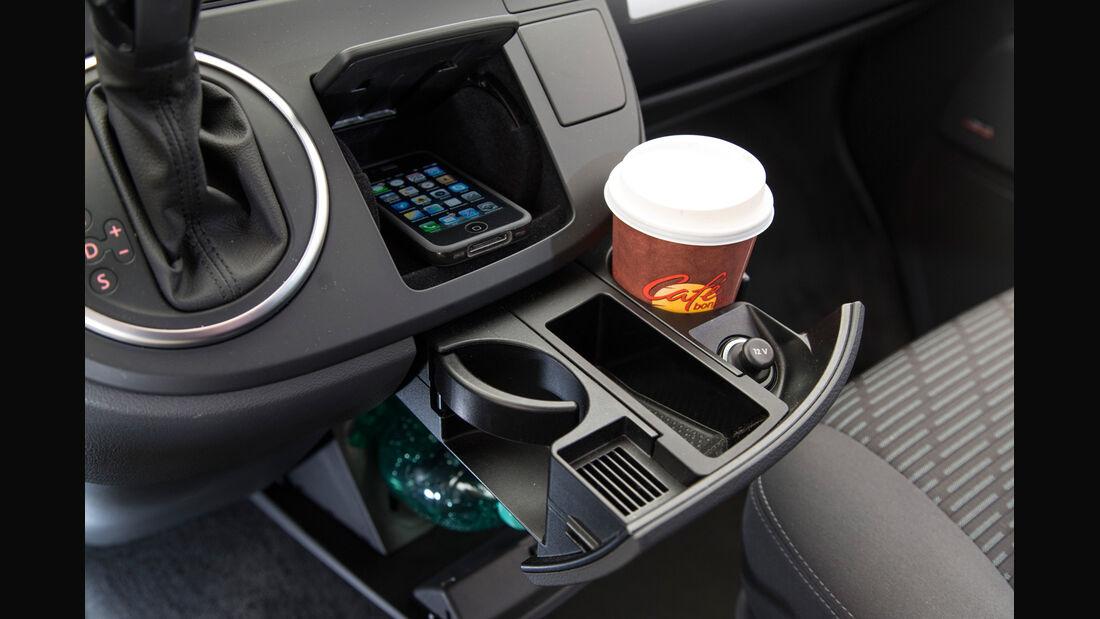 VW Multivan, Getränkehalter