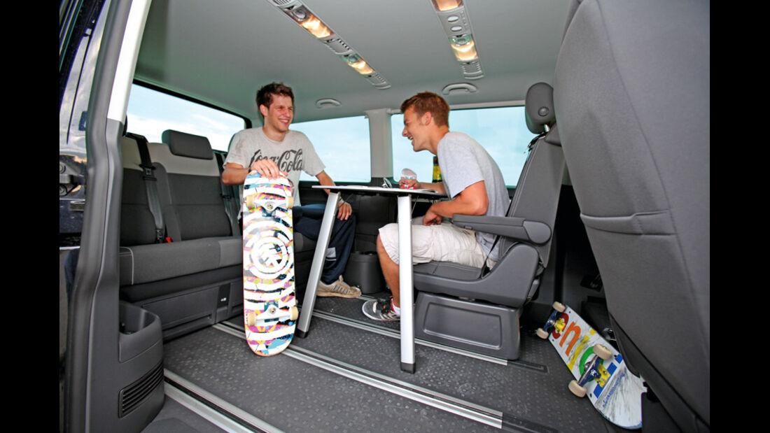 VW Multivan, Innenraum