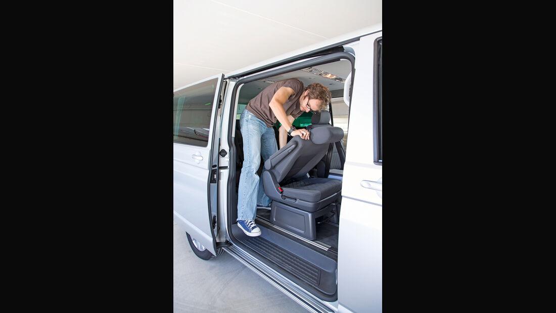VW Multivan, Stuhl verstellen