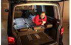 VW Multivan T5, Liegefläche