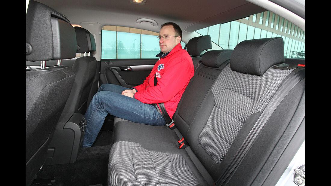 VW Passat 1.6 TDI Bluemotion, Rücksitze
