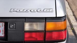 VW Passat 1.8 GL, Rücklichter, Typenbezeichnung