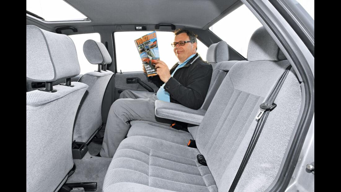 VW Passat 1.8 GL, Rücksitz, Rückbank