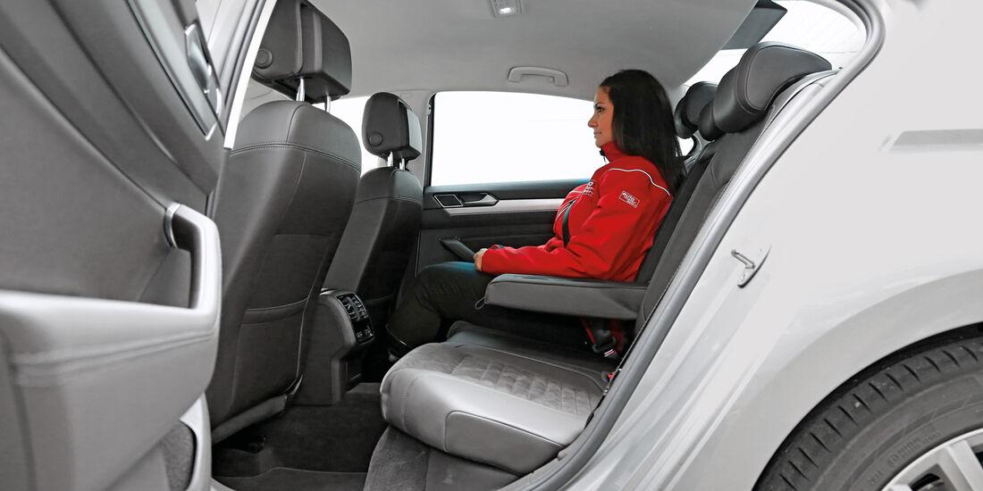VW Passat 2.0 TDI 4Motion, Fondsitz, Beinfreiheit