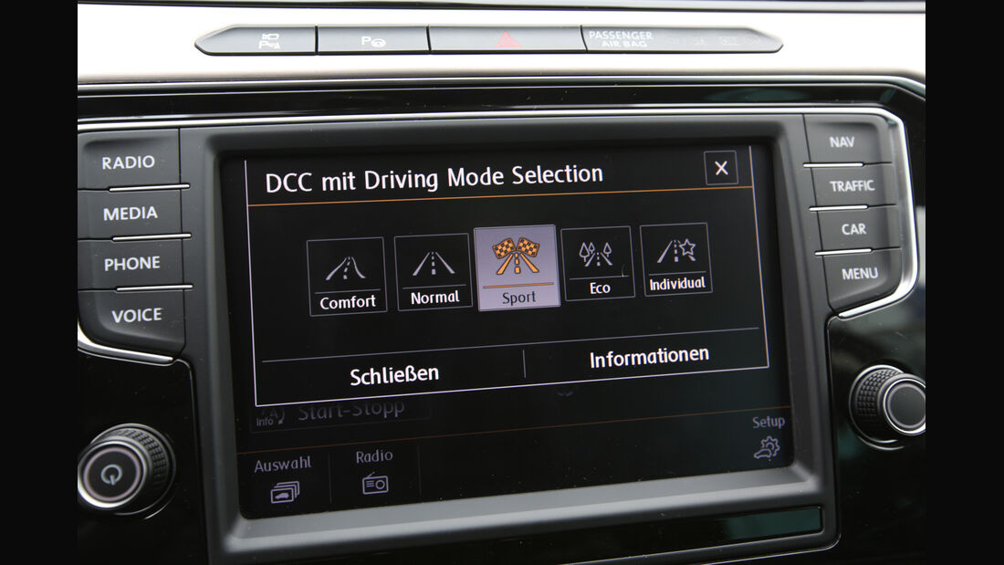 VW Passat 2.0 TDI 4Motion, Navi, Display