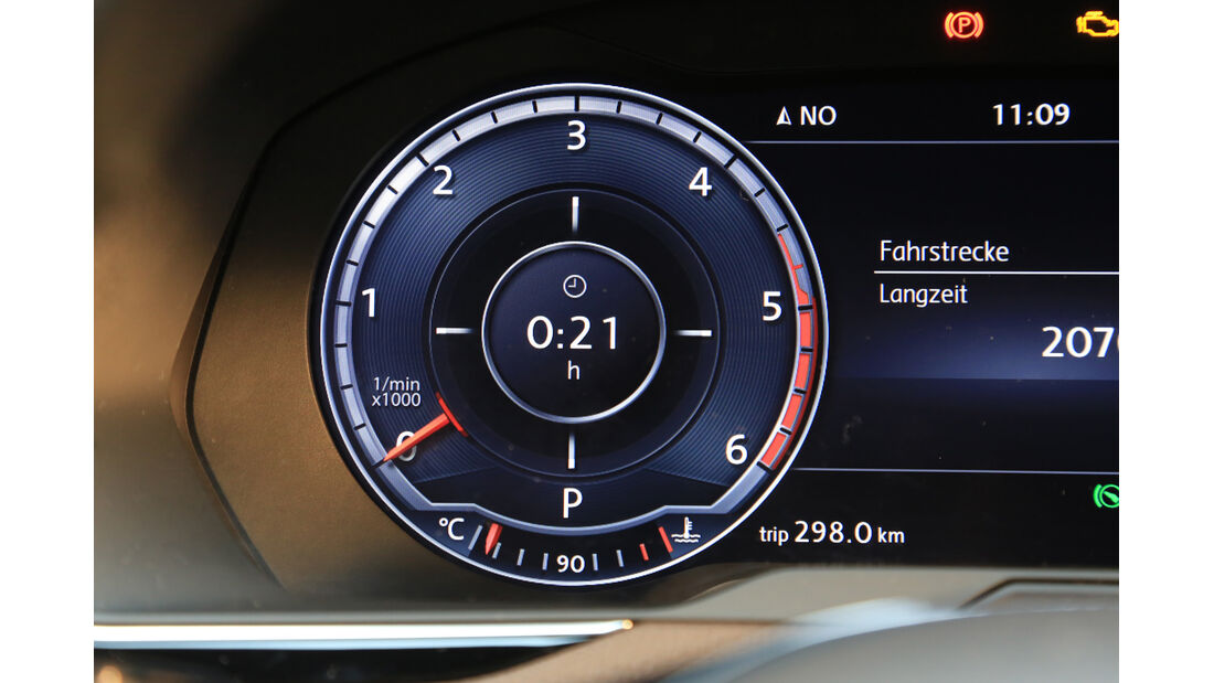 VW Passat 2.0 TDI 4Motion, Rundinstrument