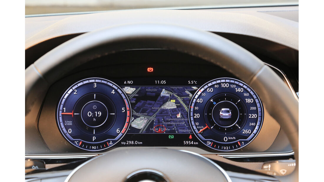 VW Passat 2.0 TDI 4Motion, Rundinstrumente