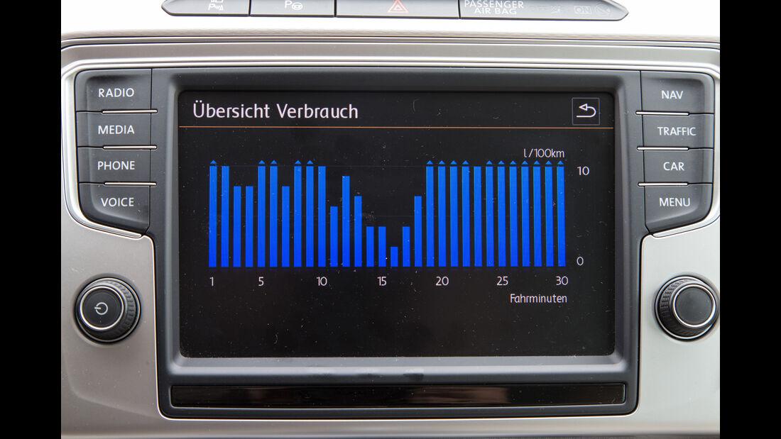 VW Passat 2.0 TDI, Anzeige, Infotainment