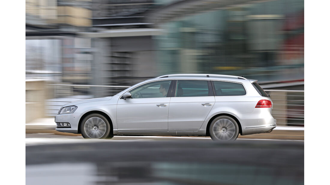VW Passat 2.0 TDI BMT, Seitenansicht