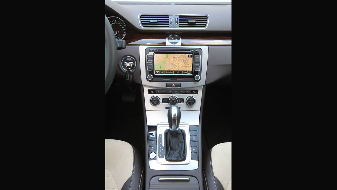 VW Passat 2.0 TDI DSG, Mittelkonsole