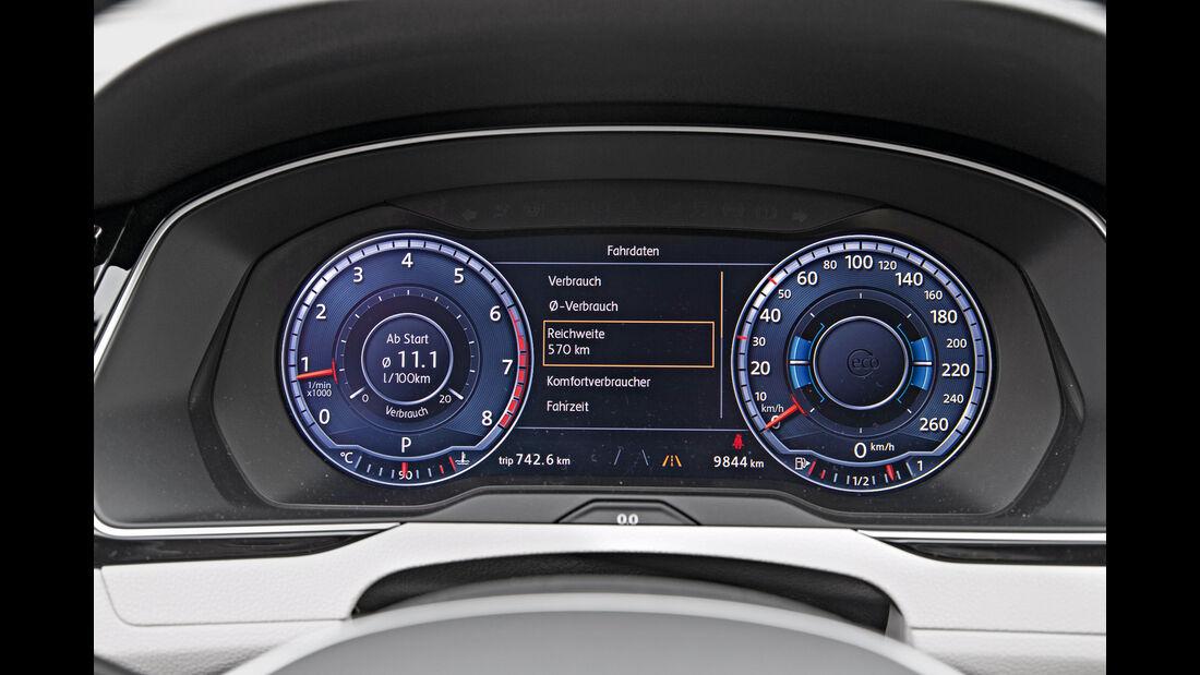VW Passat 2.0 TSI, Rundinstrumente