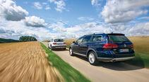 VW Passat Alltrack 2.0 TDI 4Motion, Audi A4 Allroad Quattro 2.0 TDI, Heckansicht